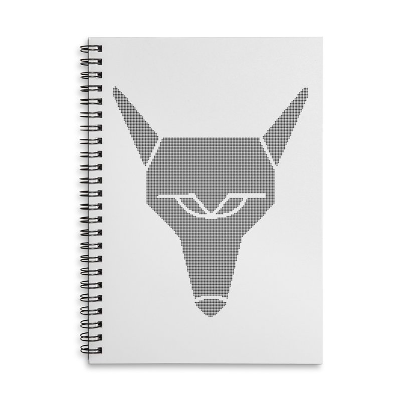 Mad Genius Black Hat Fox Accessories Lined Spiral Notebook by The Mad Genius Artist Shop