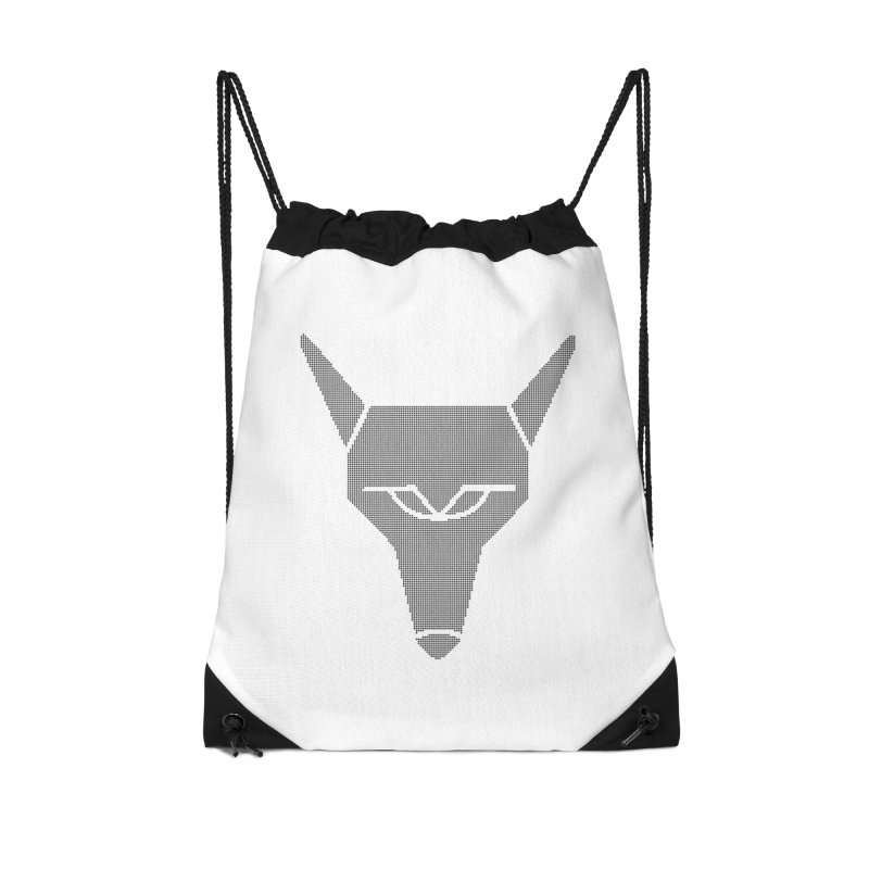Mad Genius Black Hat Fox Accessories Drawstring Bag Bag by The Mad Genius Artist Shop