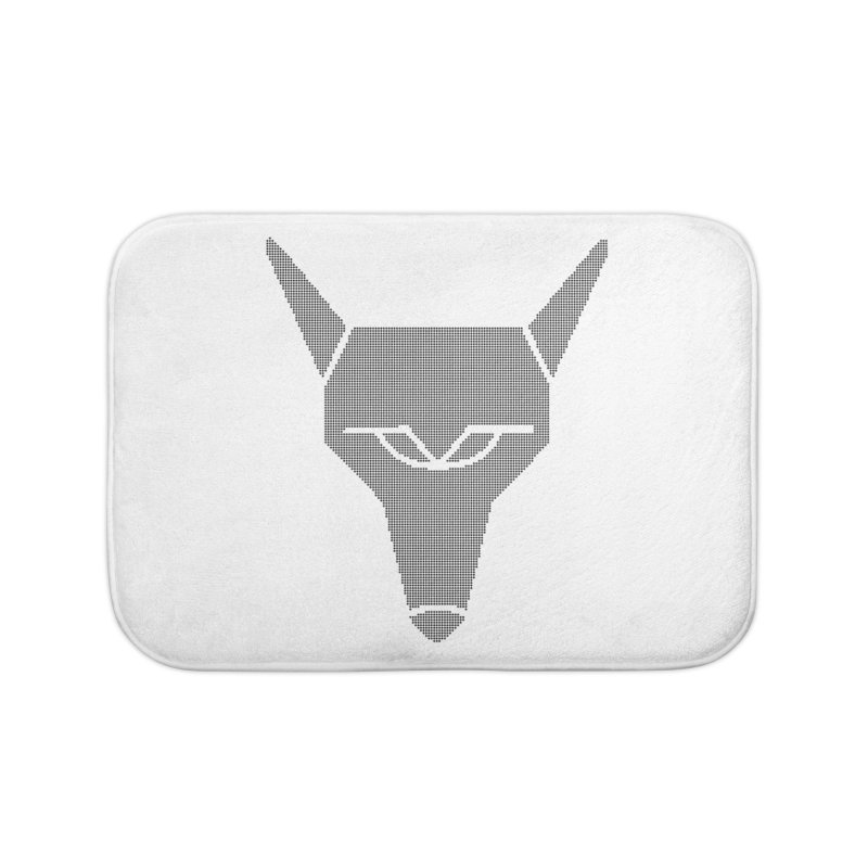 Mad Genius Black Hat Fox Home Bath Mat by The Mad Genius Artist Shop