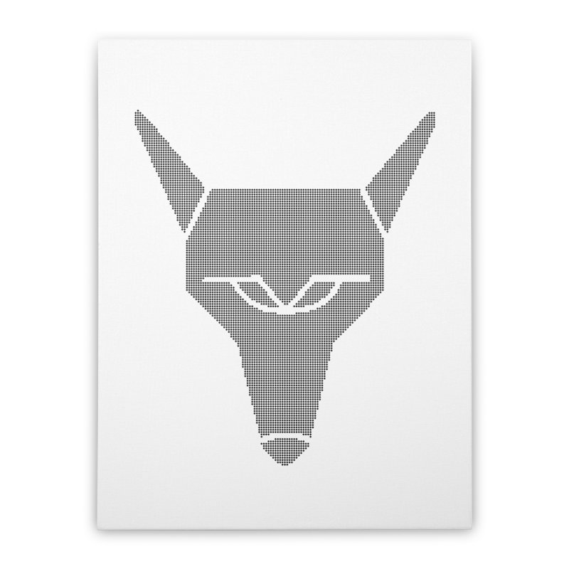 Mad Genius Black Hat Fox Home Stretched Canvas by The Mad Genius Artist Shop