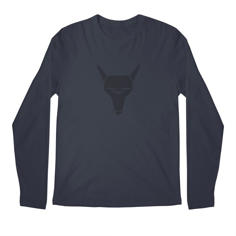 Mad Genius Black Hat Fox Men's Regular Longsleeve T-Shirt by The Mad Genius Artist Shop