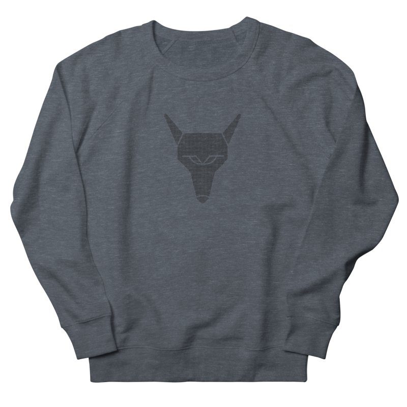 Mad Genius Black Hat Fox Men's French Terry Sweatshirt by The Mad Genius Artist Shop