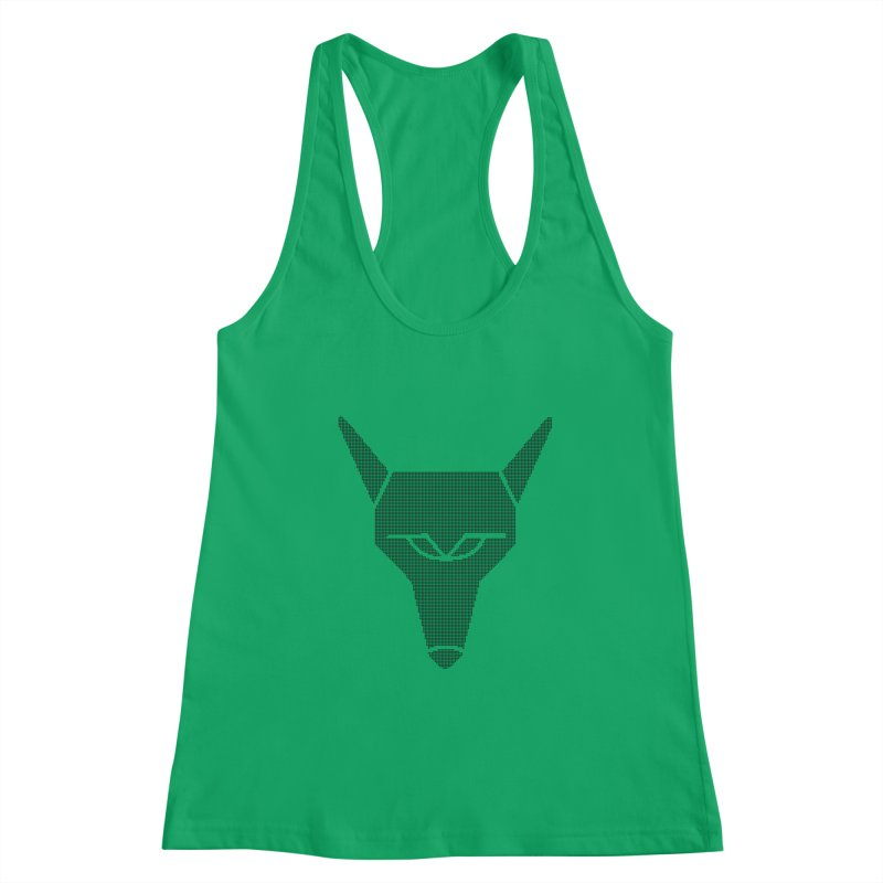 Mad Genius Black Hat Fox Women's Racerback Tank by The Mad Genius Artist Shop