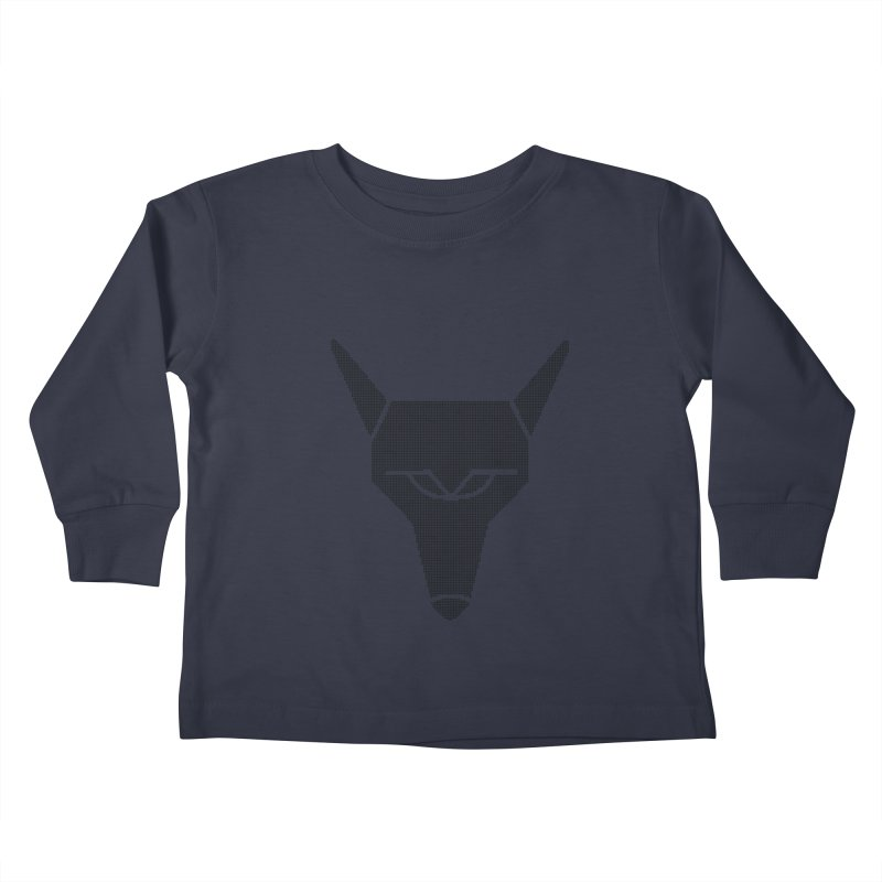 Mad Genius Black Hat Fox Kids Toddler Longsleeve T-Shirt by The Mad Genius Artist Shop