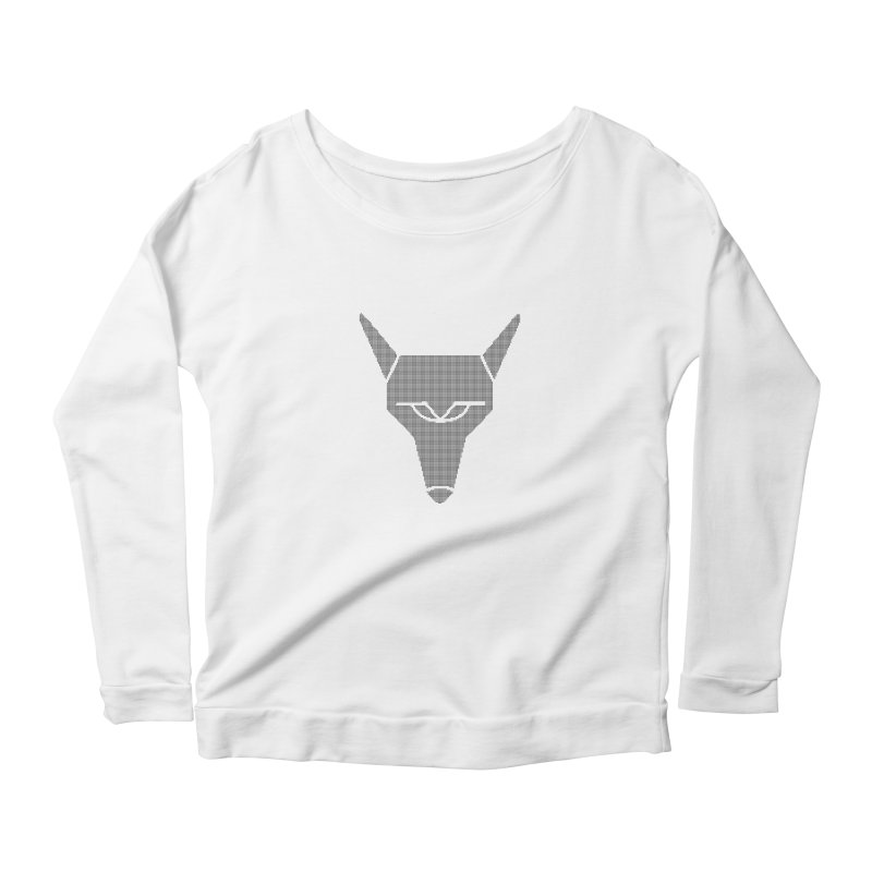 Mad Genius Black Hat Fox Women's Scoop Neck Longsleeve T-Shirt by The Mad Genius Artist Shop