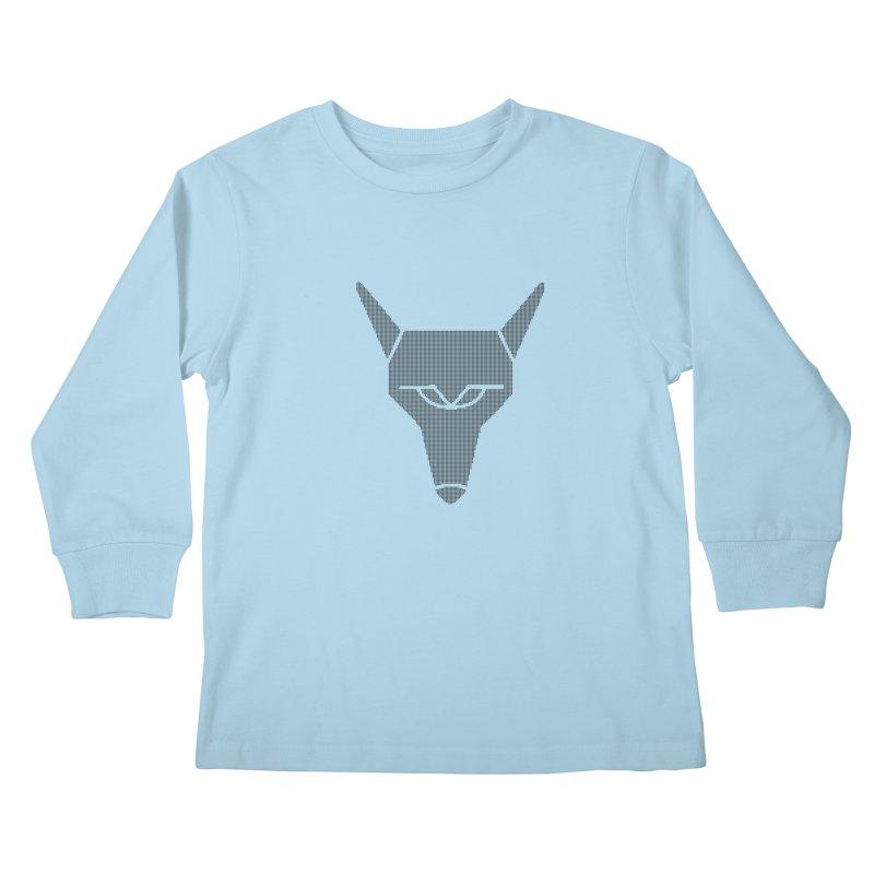 Mad Genius Black Hat Fox Kids Longsleeve T-Shirt by The Mad Genius Artist Shop