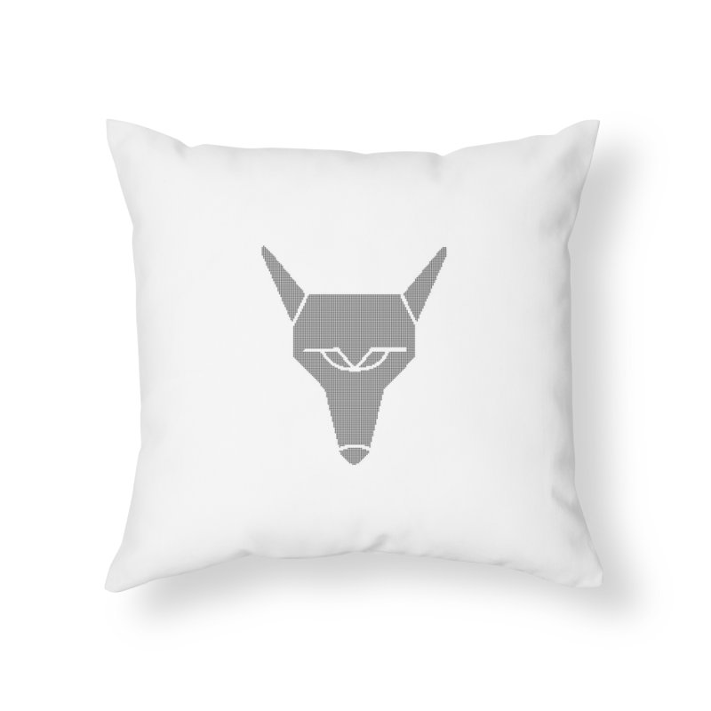 Mad Genius Black Hat Fox Home Throw Pillow by The Mad Genius Artist Shop