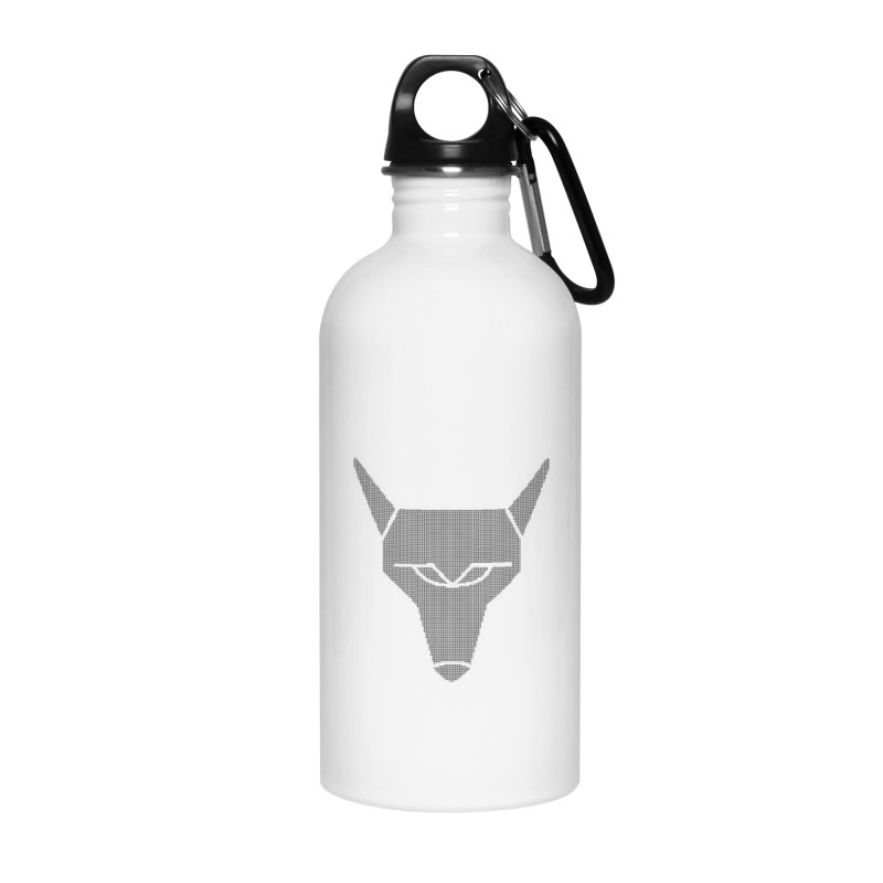 Mad Genius Black Hat Fox Accessories Water Bottle by The Mad Genius Artist Shop