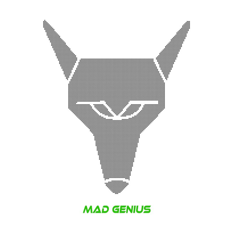 Mad Genius Black Hat Fox MG Home Bath Mat by The Mad Genius Artist Shop