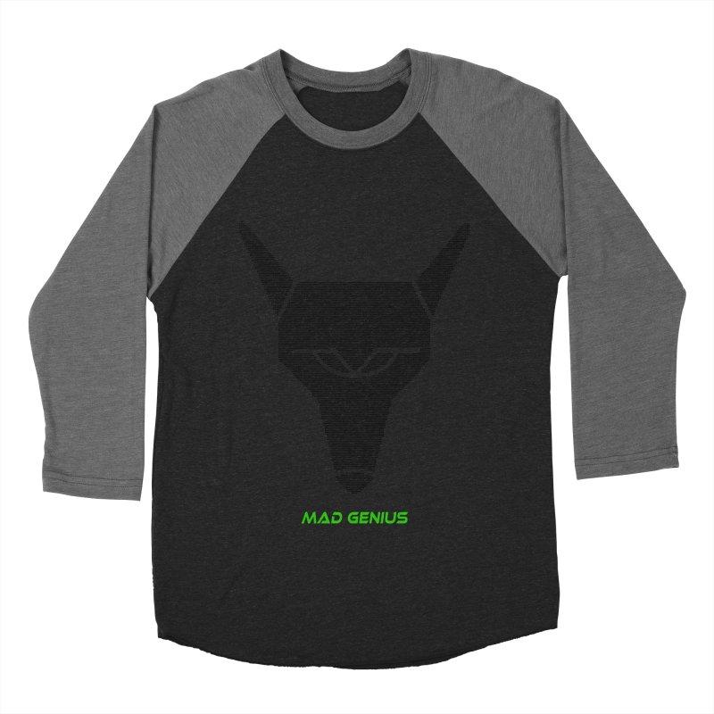 Mad Genius Black Hat Fox MG Women's Baseball Triblend T-Shirt by The Mad Genius Artist Shop