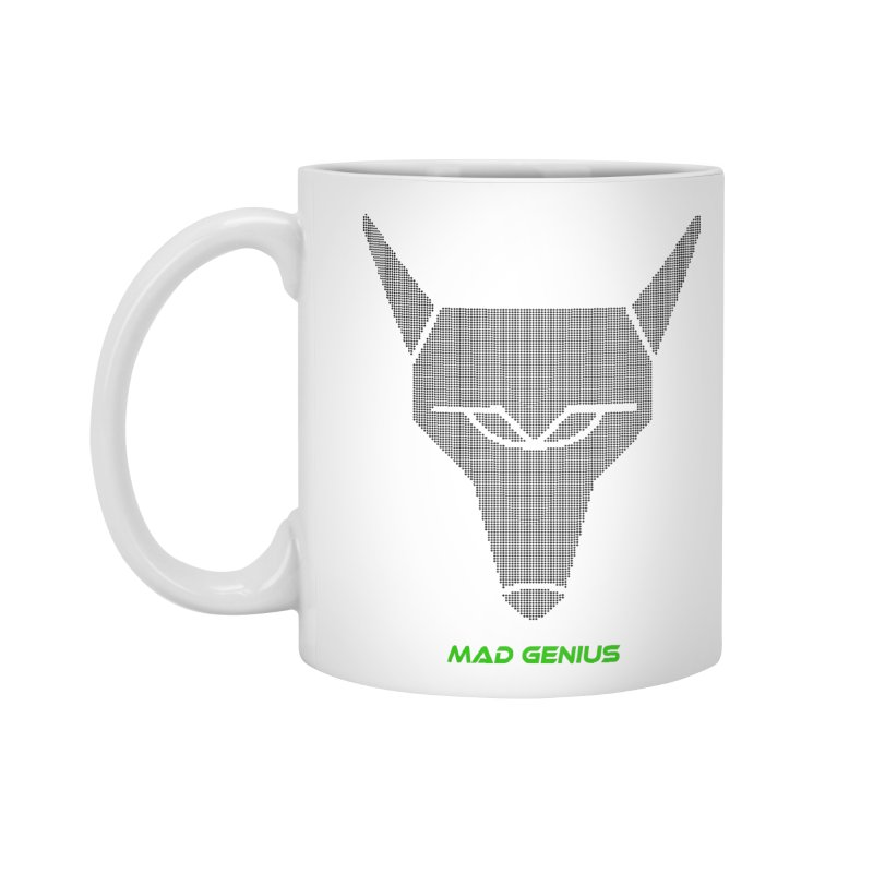 Mad Genius Black Hat Fox MG Accessories Standard Mug by The Mad Genius Artist Shop