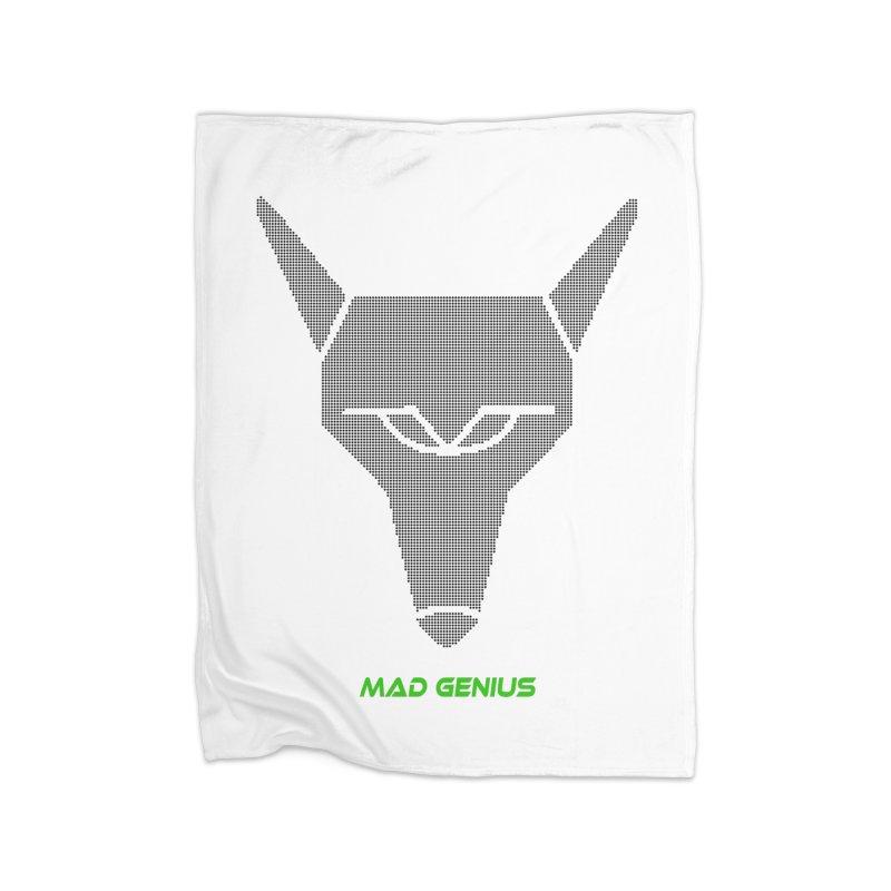 Mad Genius Black Hat Fox MG Home Blanket by The Mad Genius Artist Shop