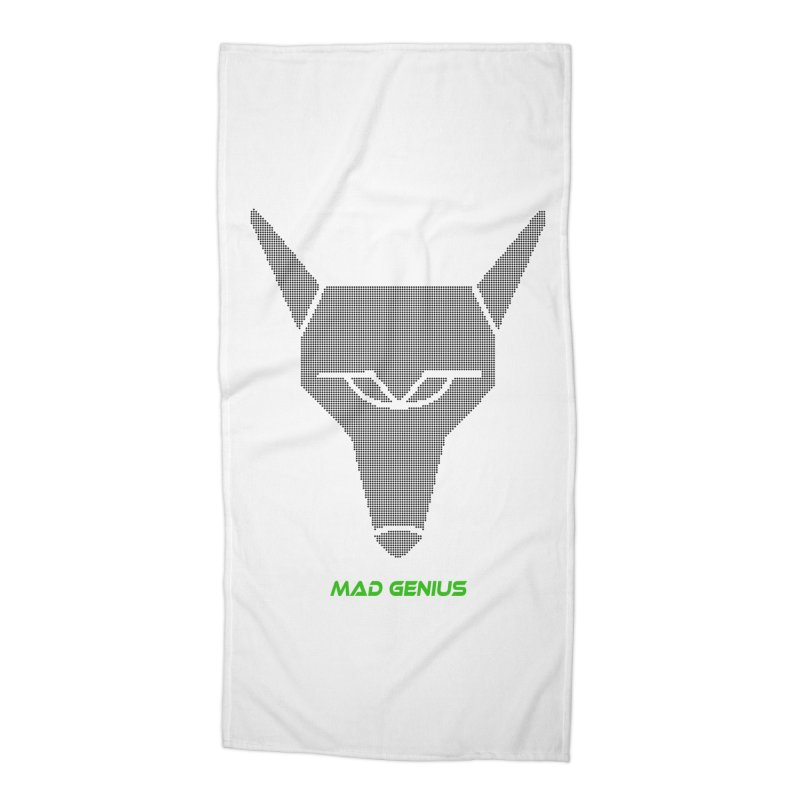 Mad Genius Black Hat Fox MG Accessories Beach Towel by The Mad Genius Artist Shop