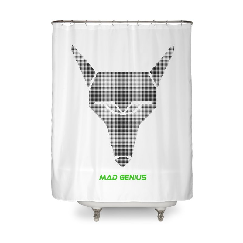 Mad Genius Black Hat Fox MG Home Shower Curtain by The Mad Genius Artist Shop