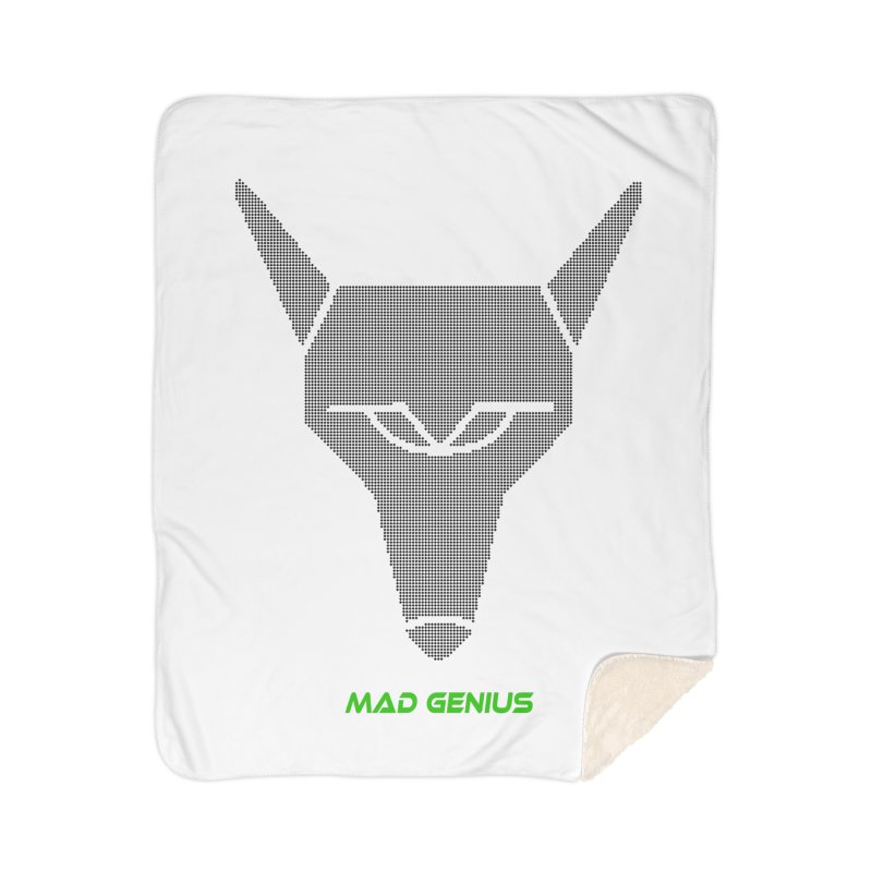 Mad Genius Black Hat Fox MG Home Sherpa Blanket Blanket by The Mad Genius Artist Shop