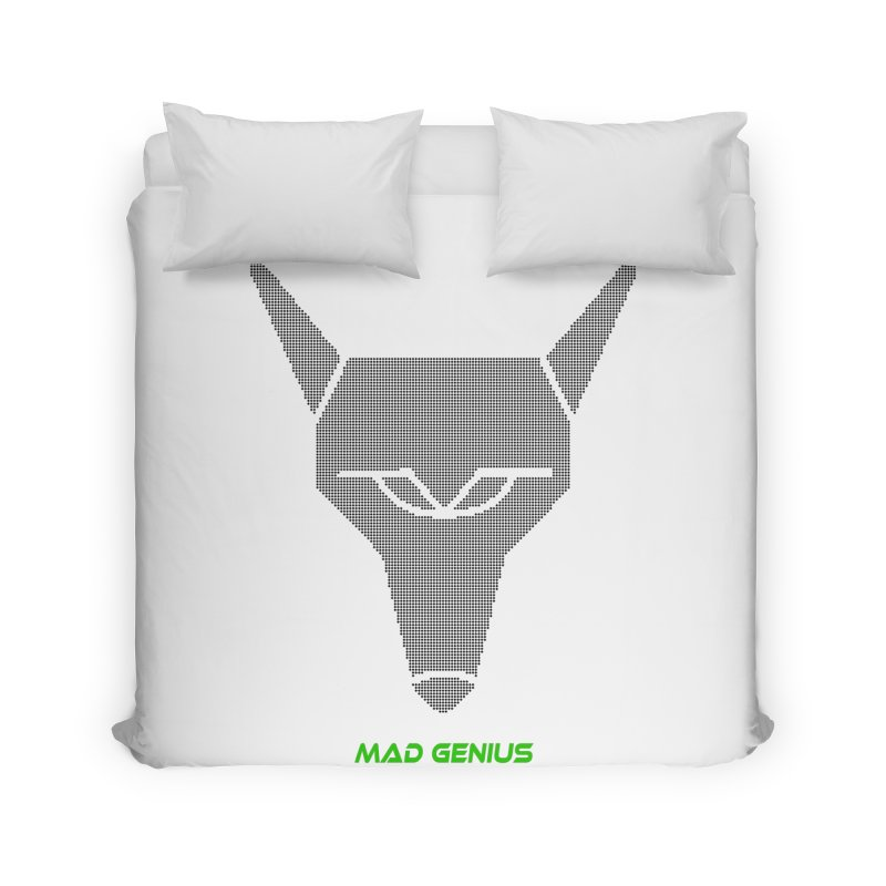 Mad Genius Black Hat Fox MG Home Duvet by The Mad Genius Artist Shop