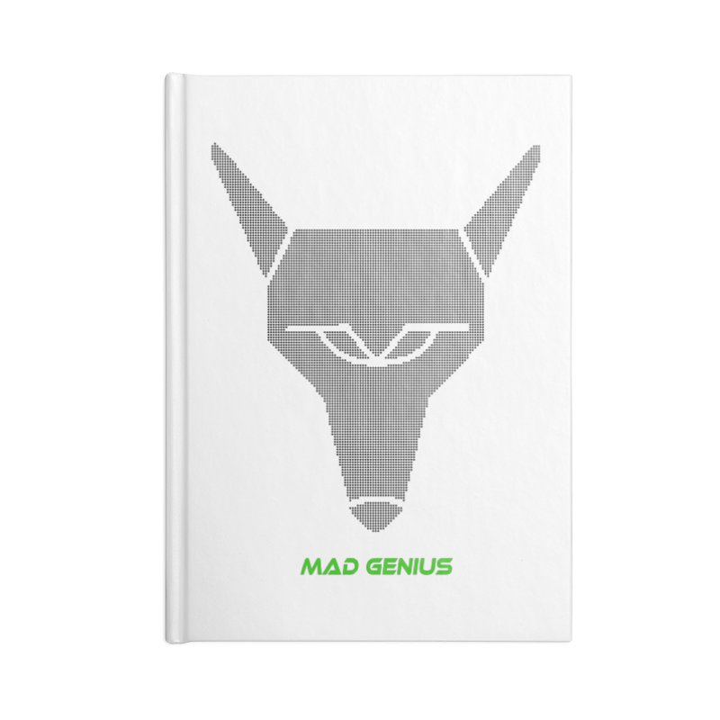 Mad Genius Black Hat Fox MG in Blank Journal Notebook by The Mad Genius Artist Shop