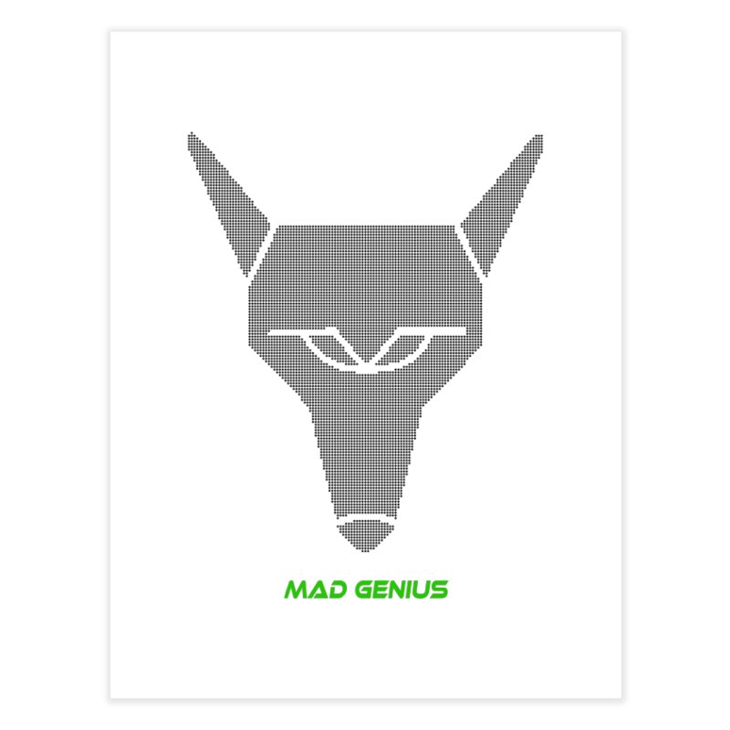 Mad Genius Black Hat Fox MG Home Fine Art Print by The Mad Genius Artist Shop