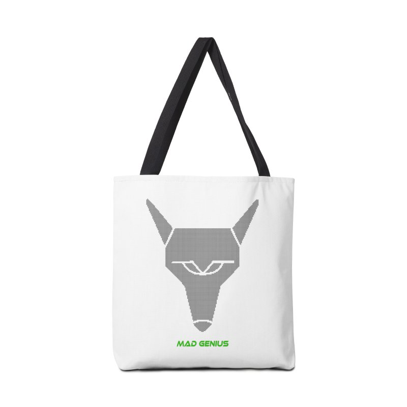 Mad Genius Black Hat Fox MG Accessories Tote Bag Bag by The Mad Genius Artist Shop