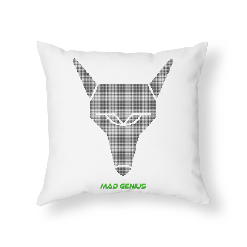 Mad Genius Black Hat Fox MG Home Throw Pillow by The Mad Genius Artist Shop