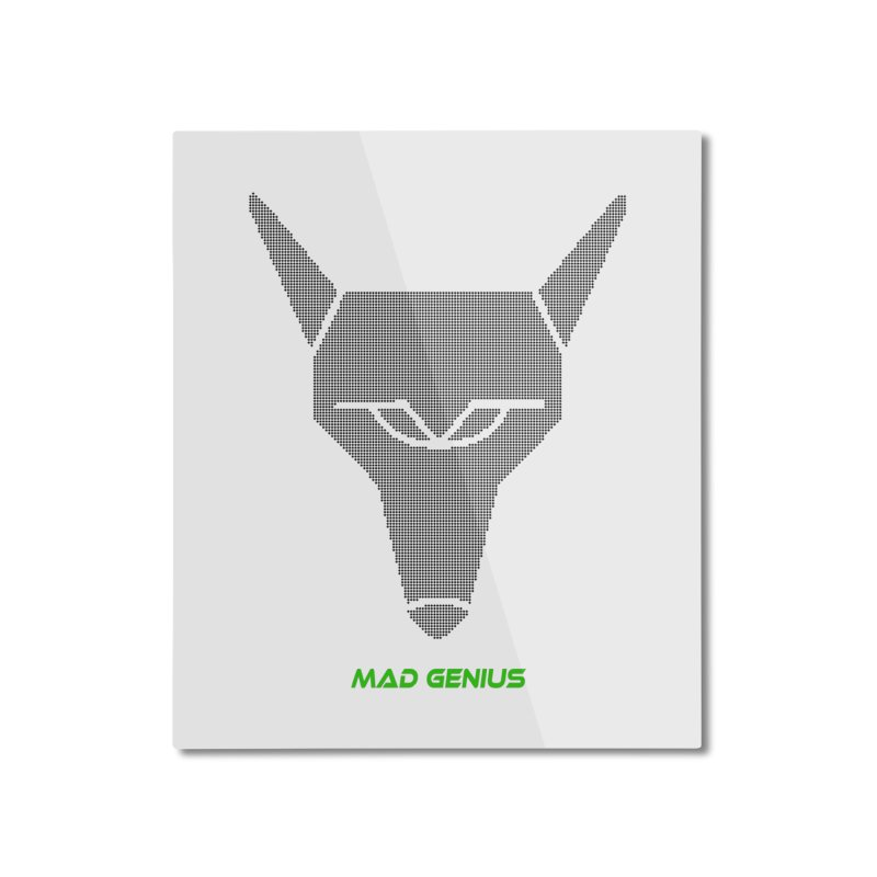 Mad Genius Black Hat Fox MG Home Mounted Aluminum Print by The Mad Genius Artist Shop