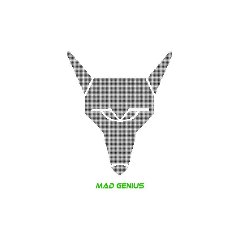 Mad Genius Black Hat Fox MG Men's T-Shirt by The Mad Genius Artist Shop