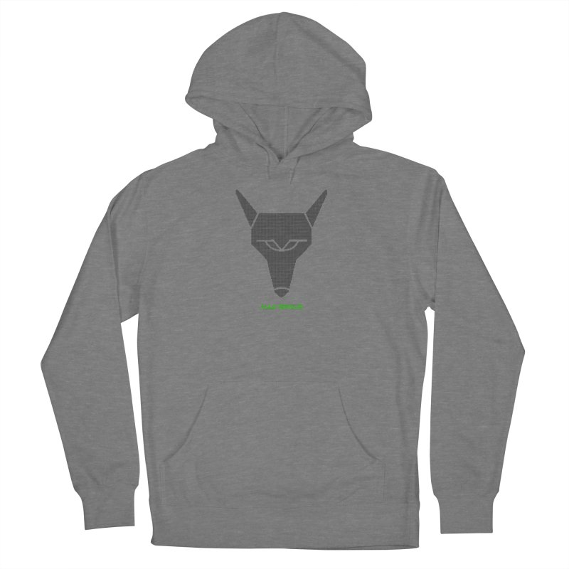 Mad Genius Black Hat Fox MG Women's Pullover Hoody by The Mad Genius Artist Shop