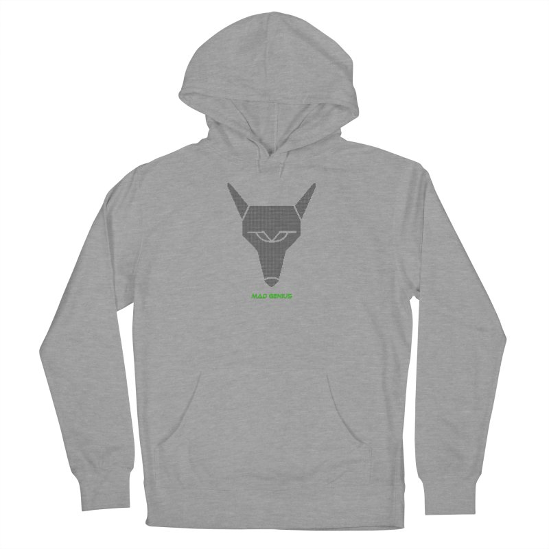 Mad Genius Black Hat Fox MG Women's French Terry Pullover Hoody by The Mad Genius Artist Shop