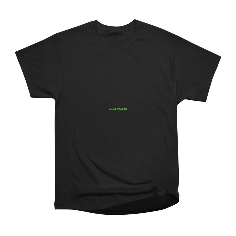 Mad Genius Black Hat Fox MG Men's Heavyweight T-Shirt by The Mad Genius Artist Shop