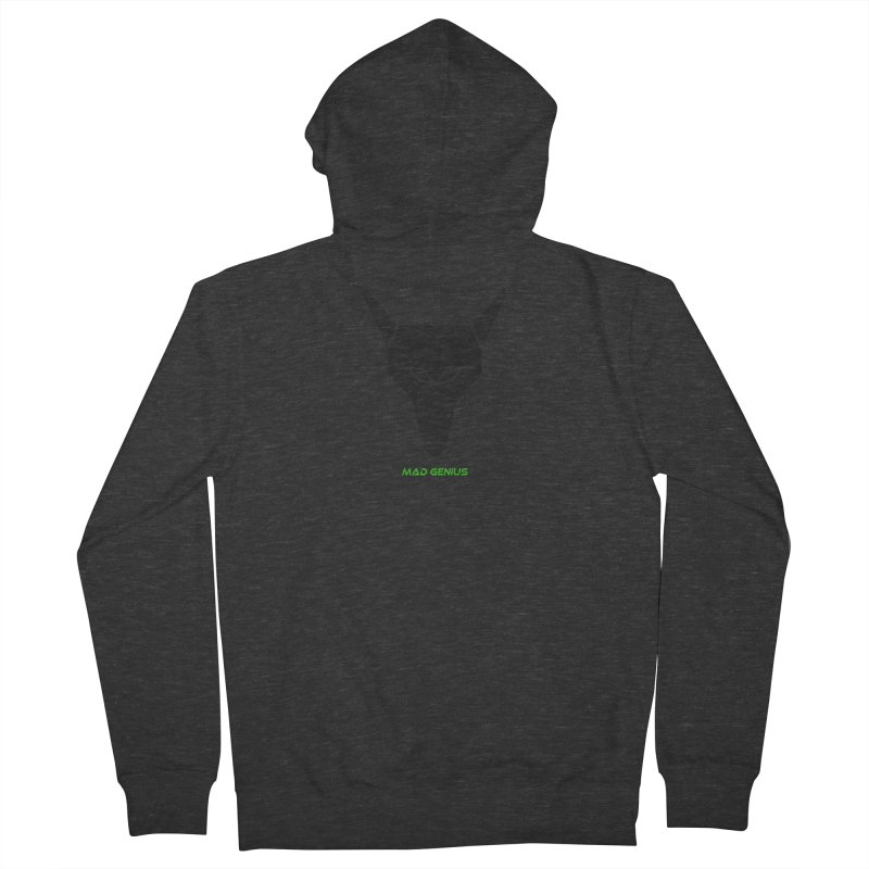 Mad Genius Black Hat Fox MG Women's French Terry Zip-Up Hoody by The Mad Genius Artist Shop