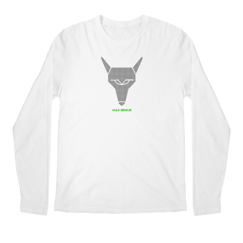 Mad Genius Black Hat Fox MG Men's Regular Longsleeve T-Shirt by The Mad Genius Artist Shop