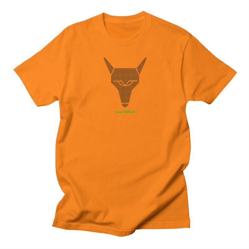 Mad Genius Black Hat Fox MG Men's Regular T-Shirt by The Mad Genius Artist Shop