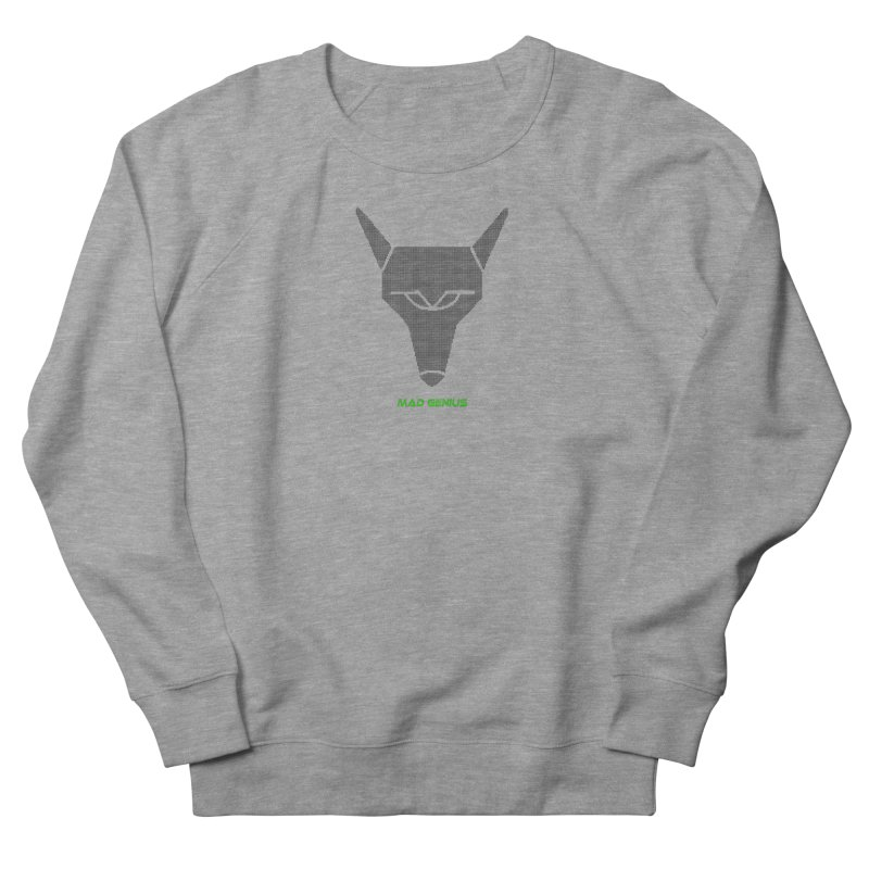 Mad Genius Black Hat Fox MG Women's French Terry Sweatshirt by The Mad Genius Artist Shop