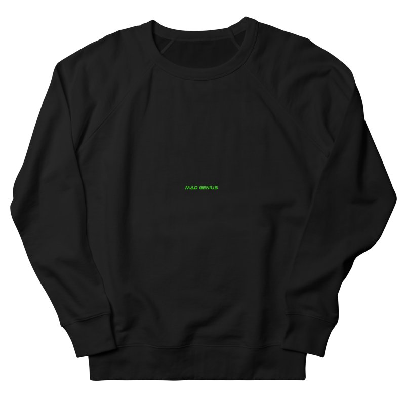 Mad Genius Black Hat Fox MG Men's French Terry Sweatshirt by The Mad Genius Artist Shop
