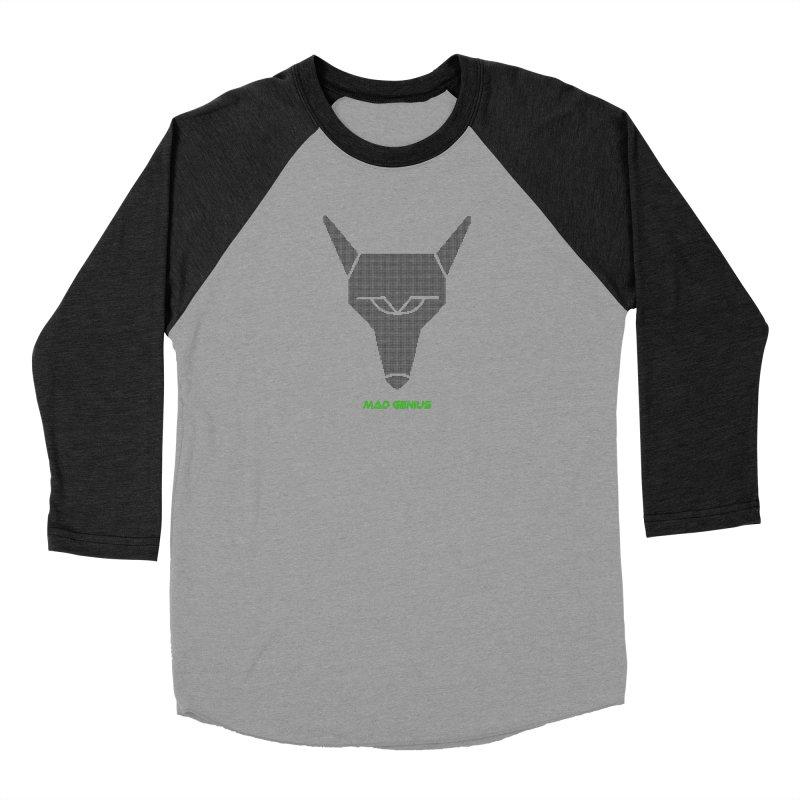 Mad Genius Black Hat Fox MG Women's Baseball Triblend Longsleeve T-Shirt by The Mad Genius Artist Shop