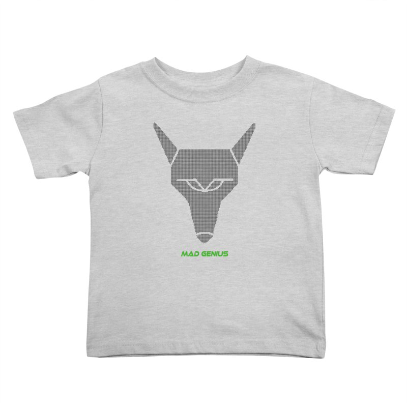 Mad Genius Black Hat Fox MG Kids Toddler T-Shirt by The Mad Genius Artist Shop