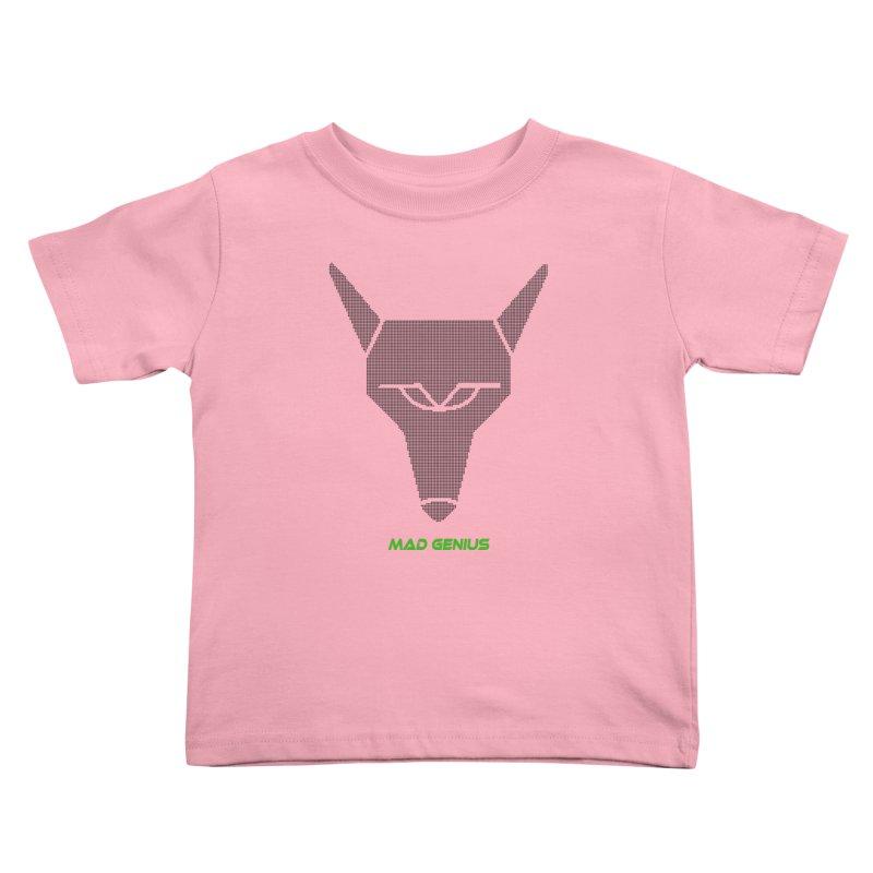 Mad Genius Black Hat Fox MG Kids Toddler T-Shirt by The Mad Genius Artist Shop