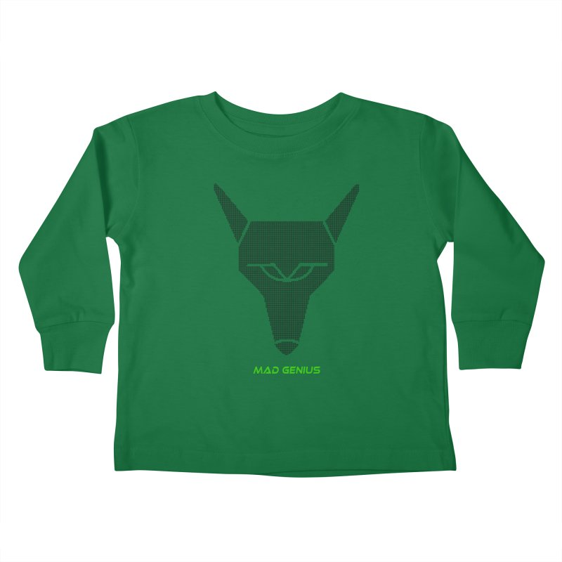 Mad Genius Black Hat Fox MG Kids Toddler Longsleeve T-Shirt by The Mad Genius Artist Shop