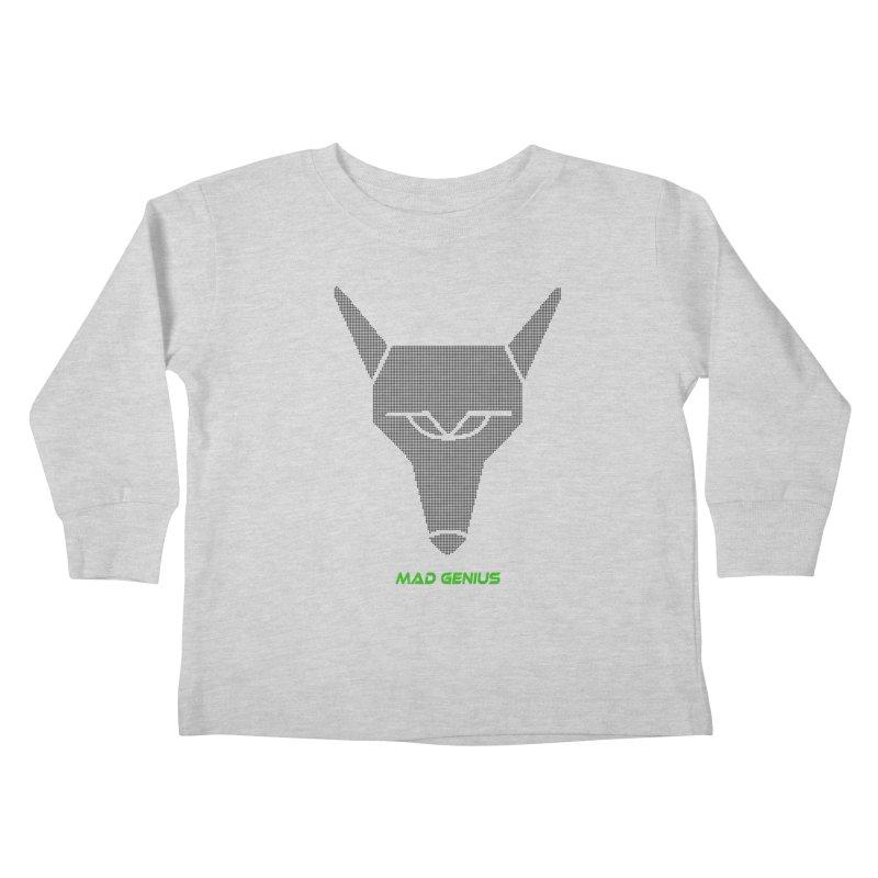 Mad Genius Black Hat Fox MG Kids Toddler Longsleeve T-Shirt by The Mad Genius Artist Shop