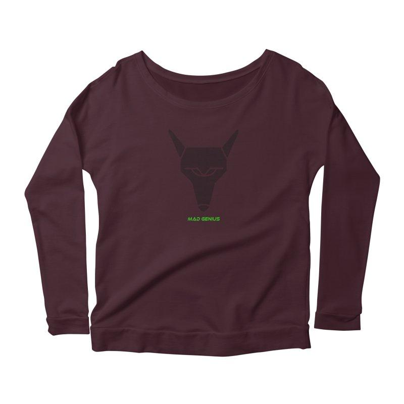 Mad Genius Black Hat Fox MG Women's Longsleeve T-Shirt by The Mad Genius Artist Shop