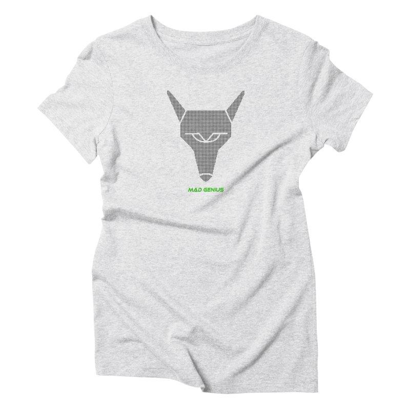 Mad Genius Black Hat Fox MG Women's T-Shirt by The Mad Genius Artist Shop