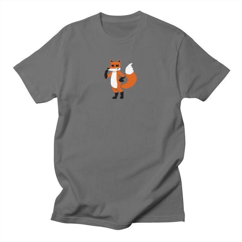 Mad Genius Pixel Fox Men's T-Shirt by The Mad Genius Artist Shop