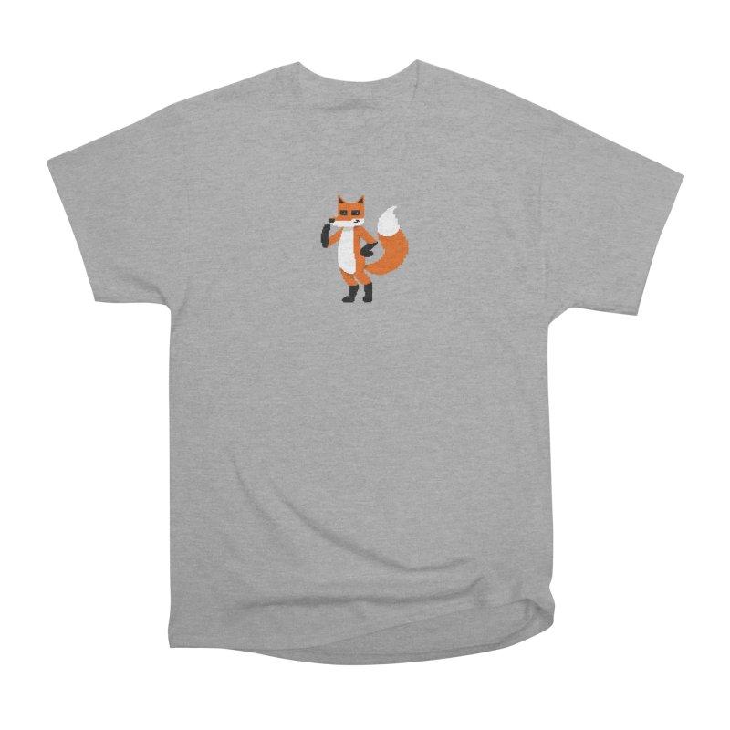 Mad Genius Pixel Fox Women's Heavyweight Unisex T-Shirt by The Mad Genius Artist Shop