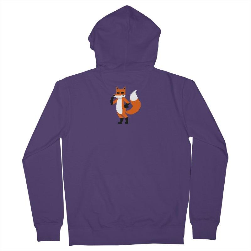 Mad Genius Pixel Fox Women's Zip-Up Hoody by The Mad Genius Artist Shop