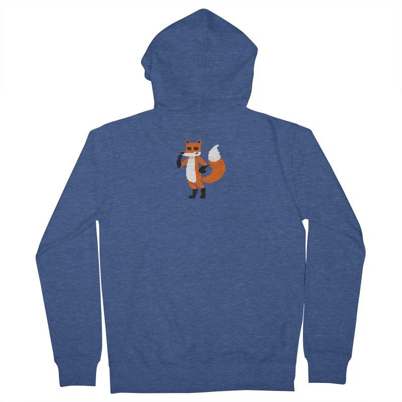 Mad Genius Pixel Fox Men's Zip-Up Hoody by The Mad Genius Artist Shop