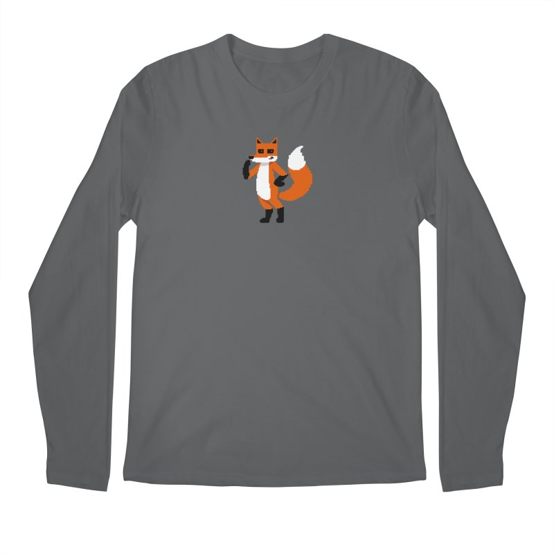 Mad Genius Pixel Fox Men's Longsleeve T-Shirt by The Mad Genius Artist Shop