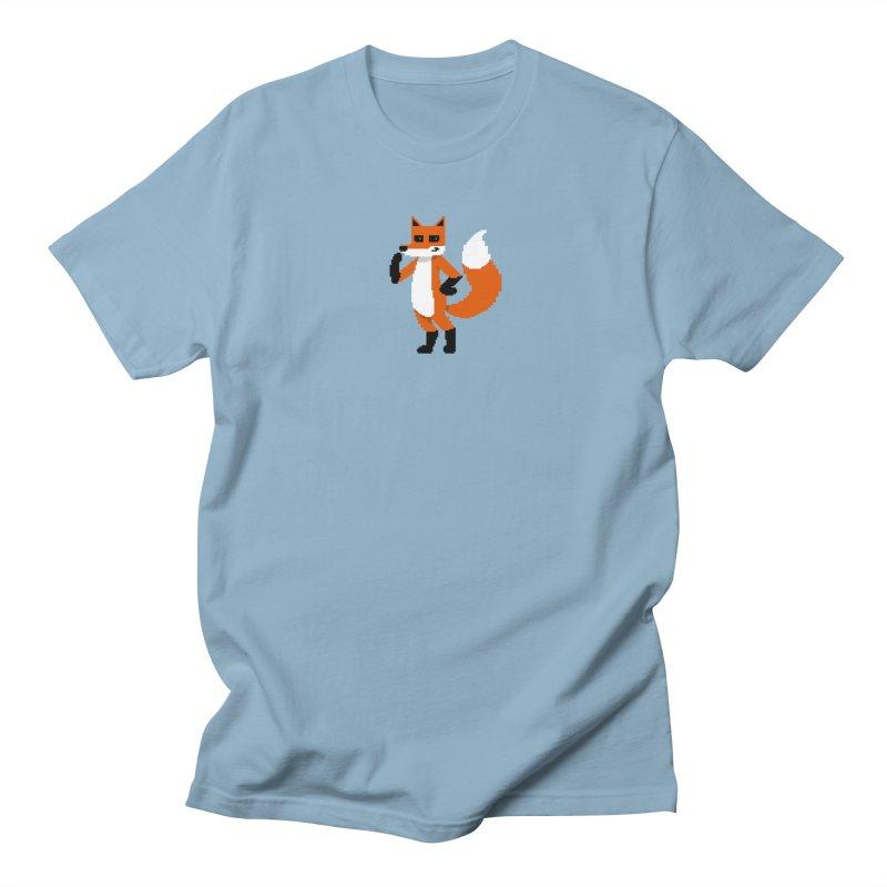 Mad Genius Pixel Fox Men's Regular T-Shirt by The Mad Genius Artist Shop