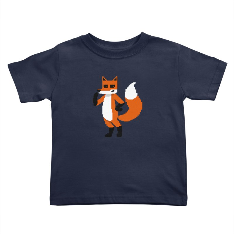 Mad Genius Pixel Fox Kids Toddler T-Shirt by The Mad Genius Artist Shop