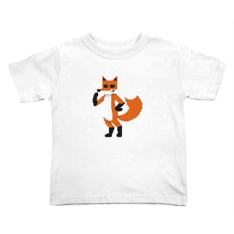 Mad Genius Pixel Fox Kids Toddler T-Shirt by The Mad Genius Artist Shop