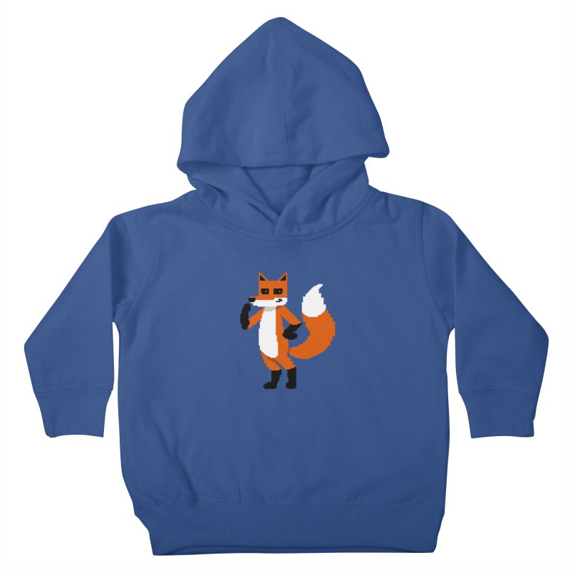 Mad Genius Pixel Fox Kids Toddler Pullover Hoody by The Mad Genius Artist Shop